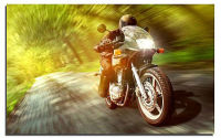 Cool motorbike design ,home decoration canvas painting,art led lights