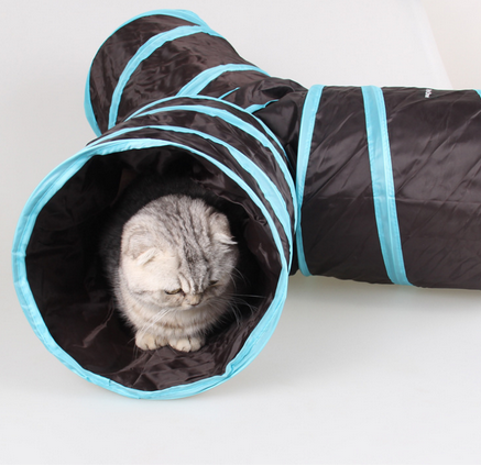 Foldable 3-Way Pet Toy Cat Tunnel