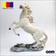 Outdoor White Running Horse Home Decoration Resin Horse Figurines