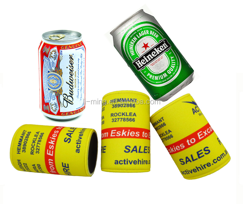 Promotional Custom Personalized real neoprene beer can cooler stubby holder