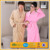 wholesale couples yellow super soft fluffy coral fleece bathrobe