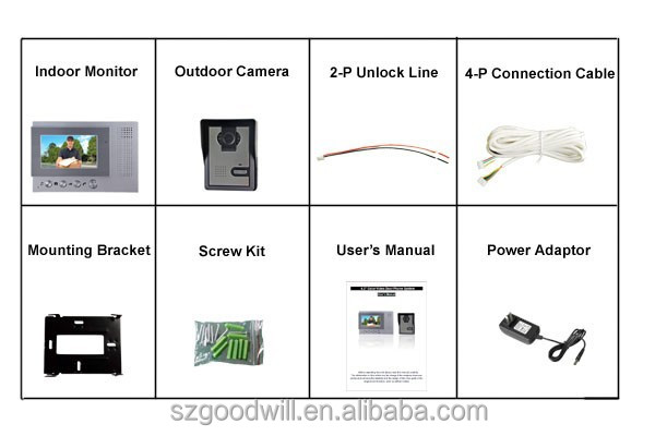 4.3 inch color monitor security video door phone Perfect automatic lock system Used for family villa intecome