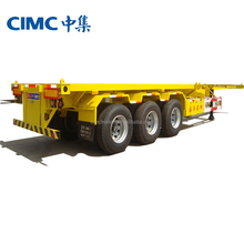 CIMC Best Selling 2 Axle 40ft Flatbed Semi Trailer Philippines For Sale