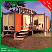 20ft 40ft sandwich panel light steel hurricane proof prefab house modern luxury villa prefab home container house