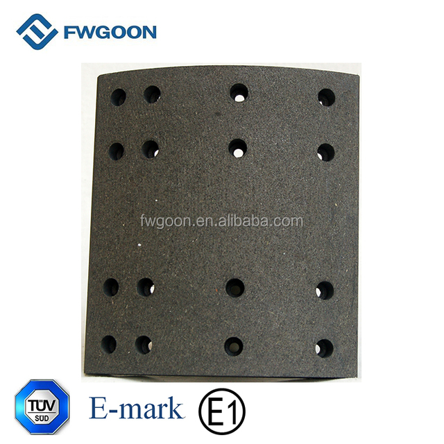 100% Organic Friction Material 4551 Brake Lining for Bus / Truck / Trailer