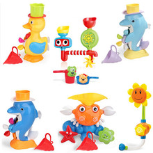 waterfall water station plastic tub waterfall fountain station duck water wheel baby bath toys
