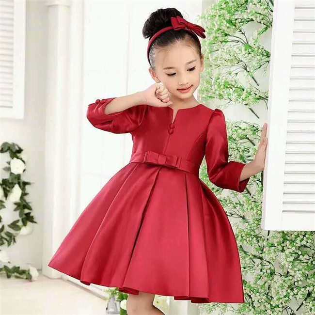 Christmas girl party dress fashion design red girls dress buy