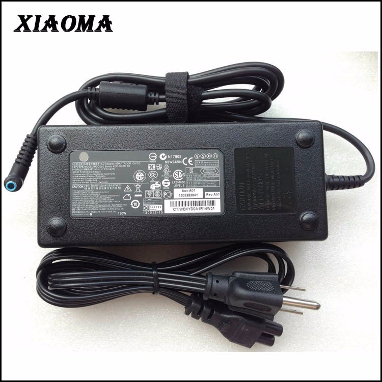 Original for HP 120W 19.5V 6.15A laptop notebook AC Power Adapter 4.5 mmX3.0 mm