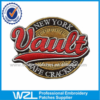 NEW YORK 3D letter epaulette patch, embroidered labels patch design for clothing