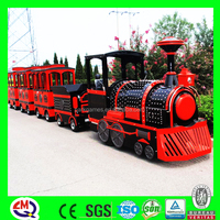 Trade assurance! Kids games electric tourist trackless train for park