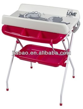 folded baby bath station changing table bath with EN12221 baby product