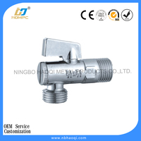 Brass quarter turn angle valve with filter