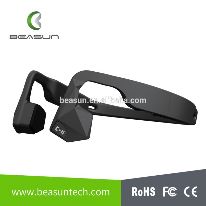 bone conduction transducer wireless sport bluetooth 4.1 stereo headset for Bone Conduction Headphones