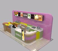 Waffles kiosks mall fast food kiosk for sale