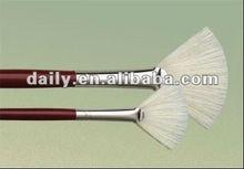 Bleached bristle Black nickel-plated brass ferrule Red wooden handle painting brush