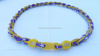 LSU Tigers Double Rope Tornado Titanium Sports Necklaces