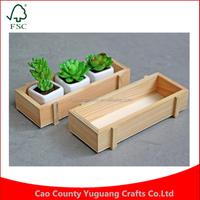 Custom Manufacture Wholesale 2pcs/lot Retro Succulent Plants Flowerpot Gardening Storage Wooden Box