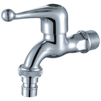 brass bibcock with zinc alloy handle single cold water tap polo bibcock