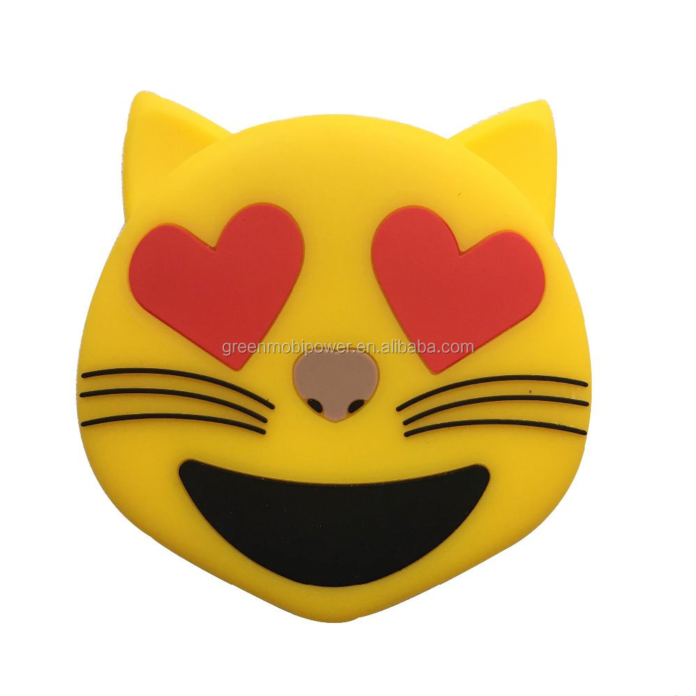2017 new design Emoji power bank cat loving 2600mah