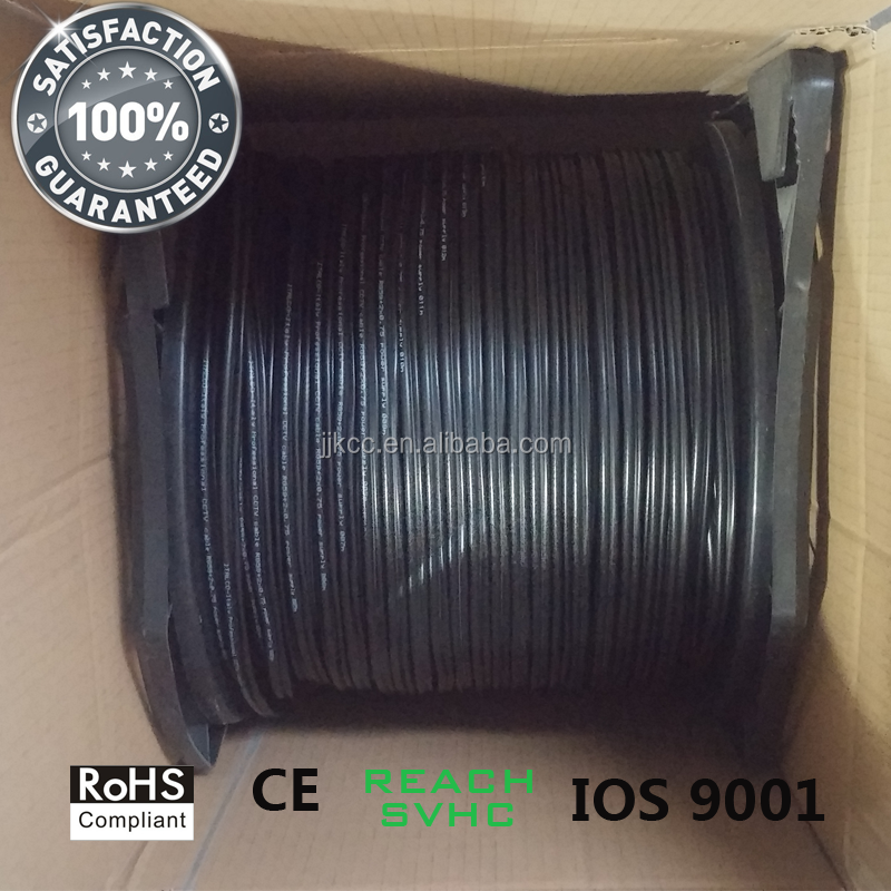 China manufacture RG59+2C/KX6+2 power siamese coaxial cable