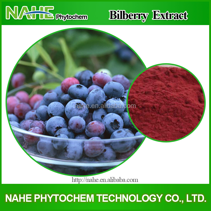 Fresh Bilberry, Bilberry Juice, Anthocyanidins 25% Bilberry Extract