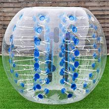 Adult TPU / PVC Body Zorb Bumper Ball Suit Inflatable Bubble Football Soccer Ball With Colored Dots bumper ball for sale