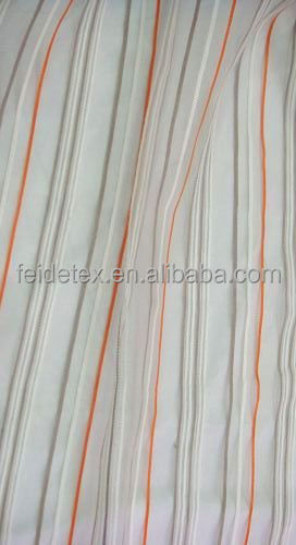 Popular Organza with Line Home Textile Curtain Fabric