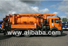 Mercedes 2527L 6x2 Vacuumtruck sewagetruck with High pressure pump