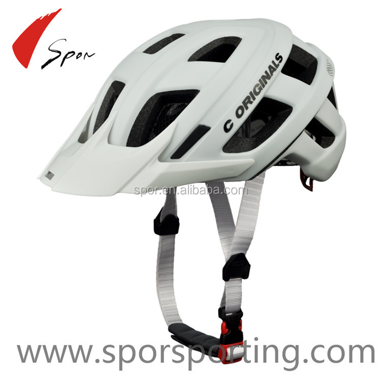 Design safety bicycle helmet with visor for adult and protection