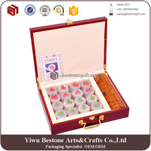 High gloss rose wooden antique Chinese chess box