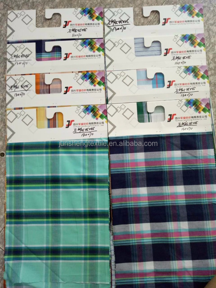 T/C yarn dyed fabric /plaid fabric