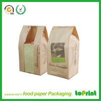 Paper kraft brown paper bread bag bread packaging bag