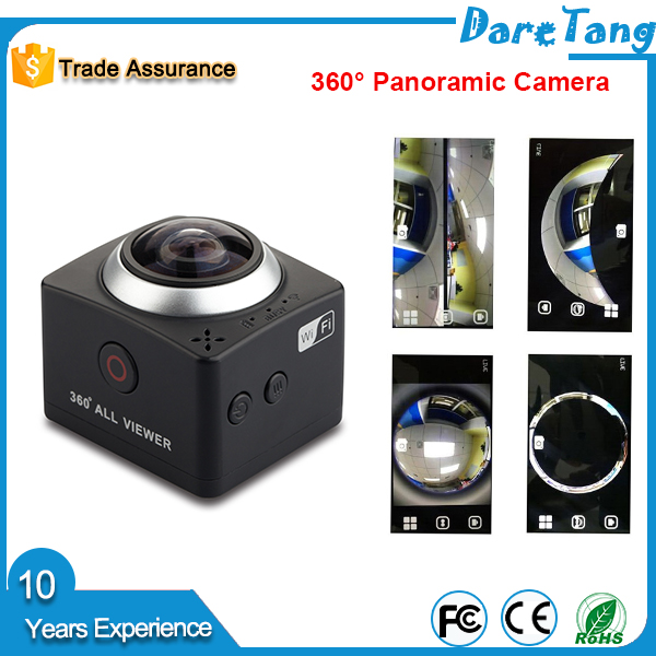 Use with UAV TAKE 3D video with VR mode 8.0 MP CMOS Sensor IMX179 360 degree cctv action camera 4k