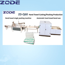 China hot sale hand towel paper cutting and packing machine production line with hight quailty