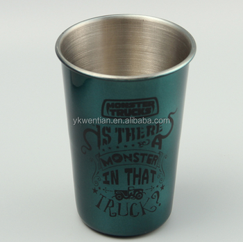Pint Cup Stainless Steel Beer Glass,Stainless Steel Shot Glass/Cup,wholesale single wall metal beer cup for whisky