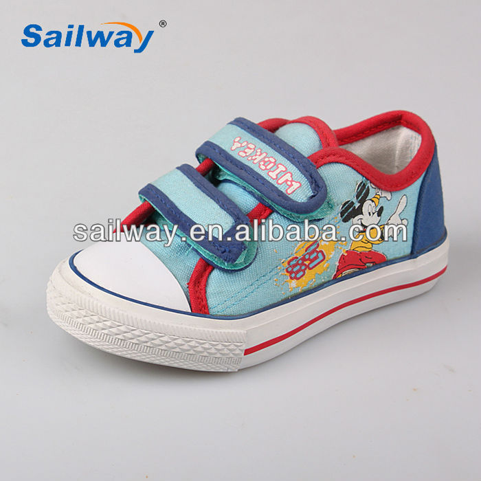 toddler soft shoes rubber sole miky print babie canvas shoes