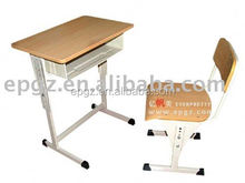 sound quality single school desk and chair /children adjustable table and chair set