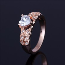 Slim Hoop Heart Plain Crystal Jewellery Finger Ring Designs For Aniversary