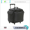 Durable trolley wine bottle cooler bag on wheels
