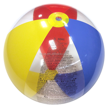 42 inch clear transparent inflatable rainbow beach ball