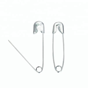 Decorative Silver Locking Safety Pins for Clothes