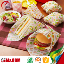 Food Wrapping Use Greaseproof Printed Baking Paper Parchment Paper for Burger Sandwich Wrapper