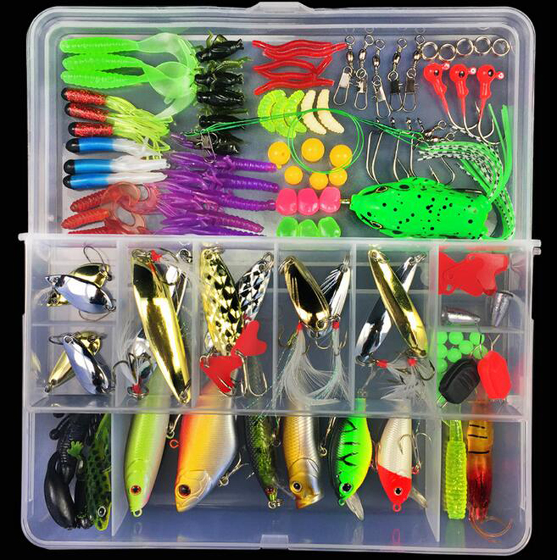 Amazon Customized <strong>Fishing</strong> Tackle Box Hard Soft <strong>Fishing</strong> Lure Accessories Hooks Swivels <strong>Fishing</strong> Lures Kit combo
