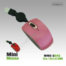 Retractable Small Size Optical PC Laptop USB Mini Mouse