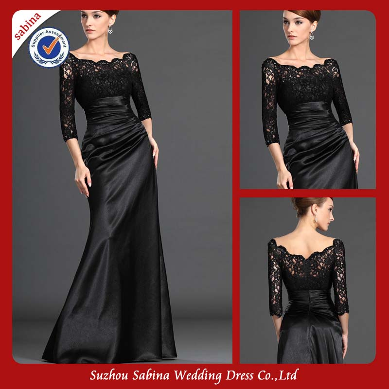 Mo1127 Sex Casual Mother Of Bride Dress With Sleeves Lace Top Mother Of The Birde Dress