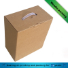 Brown kraft paper hard corrugated board packaging box with plsatic handle
