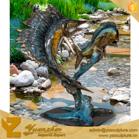 metal craft brass animal sculpture sea fish statue