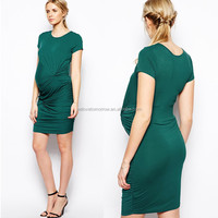 Bodycon Twist Dresses With Drape Knot, maternity clothing for pregnant nursing dresses, dongguan clothing factory (TW0549D)