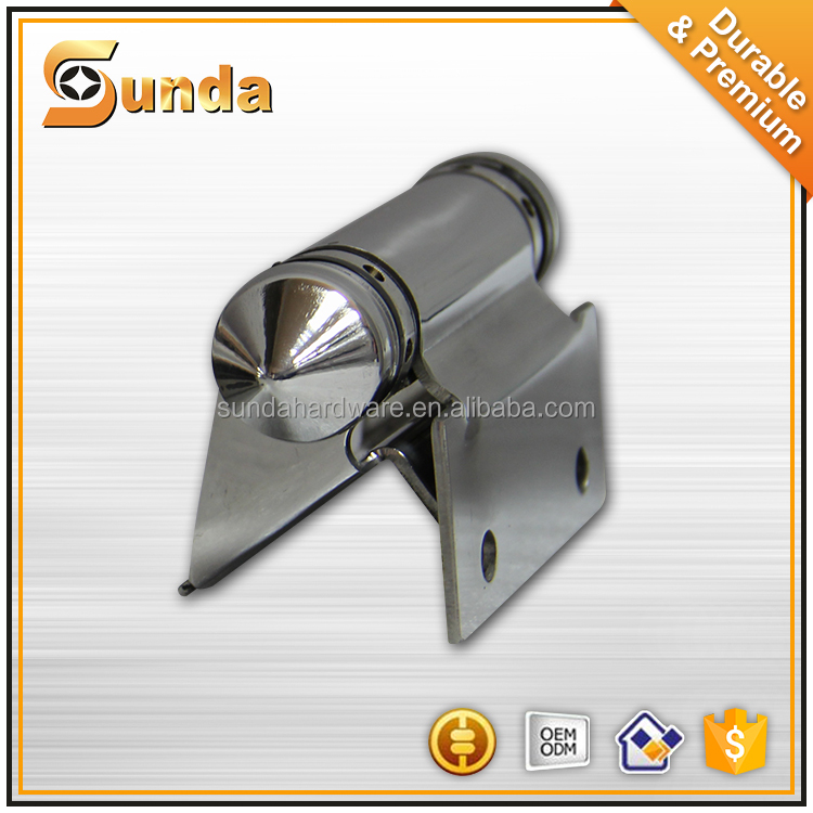 Punching iron floor spring gate hinge for glass door in hotel