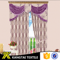 2016 new design yarn dyed linen curtains for manufactured home